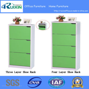 Hot Selling Three Layers Wooden Shoe Cabinet/Rack for Home Furniture