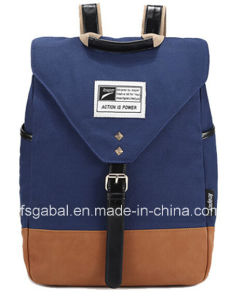 Fashion Lady′s Canvas Sport Laptop Bag Backpack pictures & photos