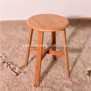 4 Legs Bamboo Round Stool Bamboo Plywood Bamboo Stool pictures & photos