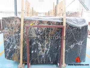Afghanistan Portoro Black Marble Slab pictures & photos