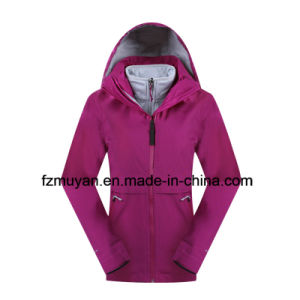 Women Waterproof Breathable Triple Jacket pictures & photos