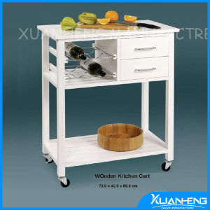 Top-Grade Solid Wood Beauty Trolley for Salon pictures & photos