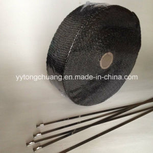 Heat Resistant Black Fiberglass Exhaust Header Insulating Wrap pictures & photos