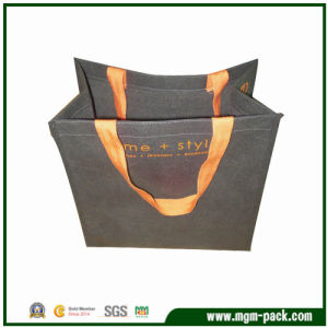 Best Quality Grey Non-Woven Handbag for Women pictures & photos