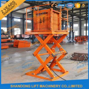 Stationary Hydraulic Outdoor Cargo Lift with Ce pictures & photos