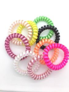 Rubber Plastic Telephone Cord Hair Bands pictures & photos