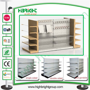 Hole Back Panel Supermarket Display Shelving pictures & photos