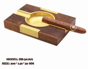 Rectangular Wooden Ash Tray with Copper Decorations pictures & photos