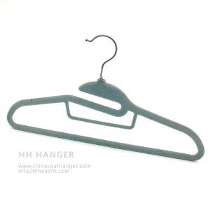 Cheap Velvet Hanger, T-Shirt Flocked Hanger, Save Space Plastic Hanger pictures & photos