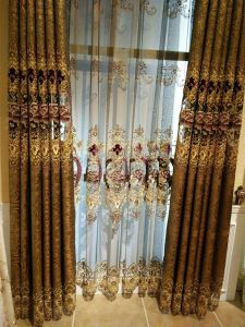 For Curtain Embroidery Lace / Cotton Fabric/Good Qualily/ Best Price pictures & photos