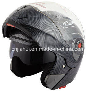 DOT Approved Flip up Helmet (carbon copy)
