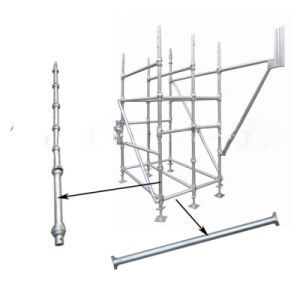 Steel Cuplock Scaffolding System for Concrete Supporting/Masonry Construction pictures & photos