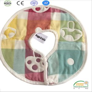 Wholesale Factory Price Cotton Baby Bibs, Cartoon Printed Cotton Baby Bib, Embroider Baby Bib pictures & photos
