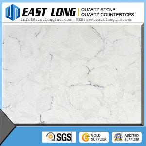 Customized Cararra White Color Artificial Quartz Stone Countertops pictures & photos