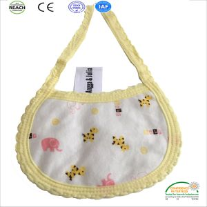 Cotton Colorful Strip Cartoon Customized Baby Bibs pictures & photos