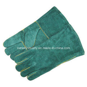 Cow Split Leather Welding Gloves 1119 pictures & photos