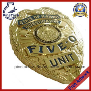 Five-O Investigator Badge, 3D Eagle Top Police Badge pictures & photos