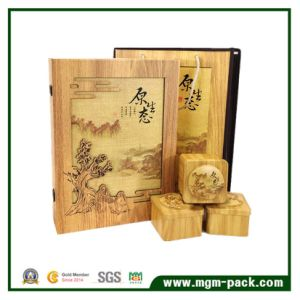 Hot Sale Rectangular Classic Design Wooden Tea Box pictures & photos