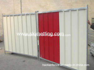 Running Construction Fencing Hoarding Panel Colour Steel Hoarding pictures & photos