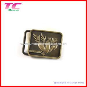 Custom Design 3D Embossed Metal Belt Buckle