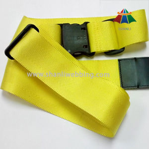 High Strength Polyester Material Luggage Belt, Yellow Luggage Strap pictures & photos