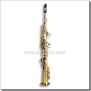 Bb Straight Soprano Saxophone (SP2001G) pictures & photos