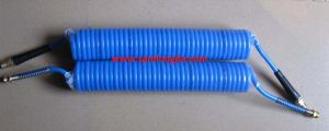 Pneumatic PU Spiral Hose with Swivel Coupler & Protect Sleeve pictures & photos