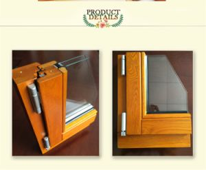 Interior Wooden Window Frame Design, High Quality European Style Solid Oak/Teak/Pine Aluminum Awning Window pictures & photos