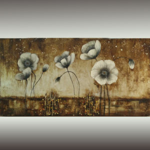 Modern Framed Impressionism Floral Painting on Canvas for Decor (LH-161000) pictures & photos