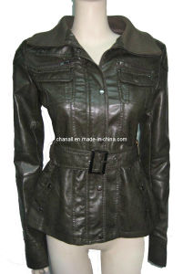 Women Fashion PU Leather Jacket (CHNL-PUJT001)