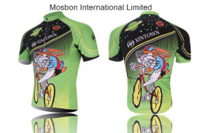 Men′s Cycling T-Shirt Clothing Green Rabbit pictures & photos