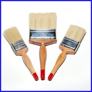 Wooden Handle White Bristle Paint Brush pictures & photos