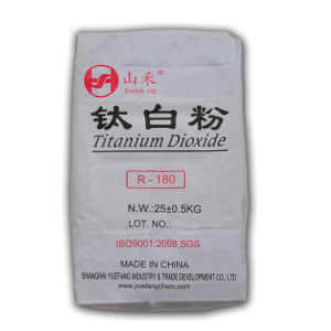 Rutile Titanium Dioxide (R-180) for Plastic and Paint Use pictures & photos