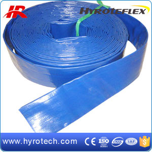 Red and Blue Color of PVC Layflat Hose pictures & photos