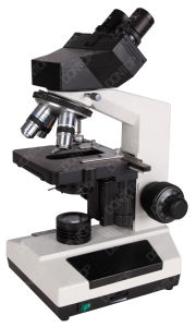 Sliding Binocular Head Microscope with Quadruple Nosepiece M24107 pictures & photos