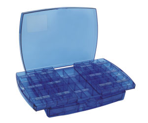 Blue Pull & Push Style Accessory Box