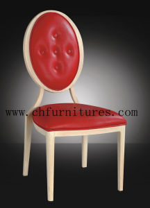 Modern Aluminum Wood Grain Restaurant Chair for Dining Room (YC-E62) pictures & photos
