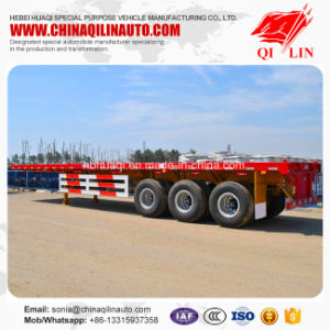 Hot Sale 40 Tons Flatbed Cargo Trailer for Sudan Market pictures & photos