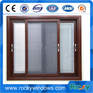 Indonesia Tempered Glass Aluminum Sliding Window with Fly Screen pictures & photos