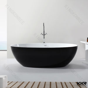 Kkr Factory Solid Surface Stone Resin Freestanding Bathtub pictures & photos