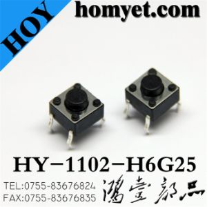 Tact Switch with Round Handle Environmental Protection (HY-1102-H6G25) pictures & photos