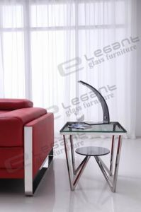 2013 Tempered Clear Glass Table S104 pictures & photos