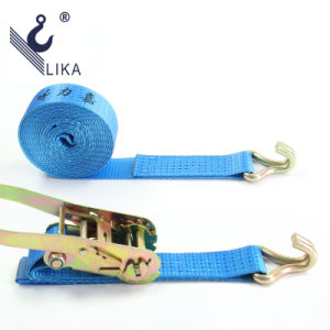 50mm*5t Double J Hook Ratchet Strap pictures & photos