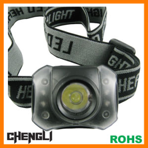 Chengli Night Vision 60lumens 1watt+4 Red LEDs LED Head Lamp with 3PCS AAA Size Battery (LA257)