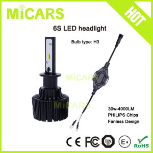 Super Bright Fanless 4000lm Philips H3 Car LED Headlight pictures & photos
