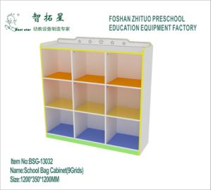 Wooden Storing Toys Box, Storage Cabinet for School Bag