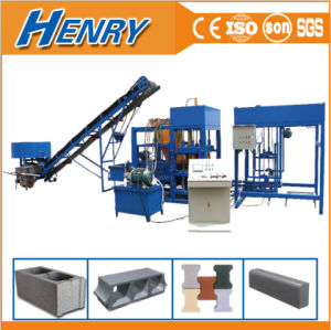 China Top Quality Qt4-20 Automatic Hydraulic Cement Concrete Hollow Block Making Machine/ Paving Block Making Machine pictures & photos