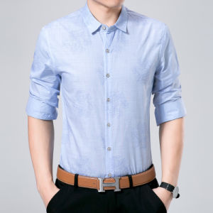 Business Men Shirt with Floral Dark Pine Pattern pictures & photos
