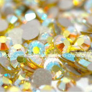 All Sizes Non Hotfix Rhinestone 3D Nail Art Citrine Ab Flat Back Glitter Loose Stone (FB-ss16 citrine ab) pictures & photos