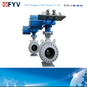 API 6D High Pressure Pneumatic Trunnion Ball Valve pictures & photos